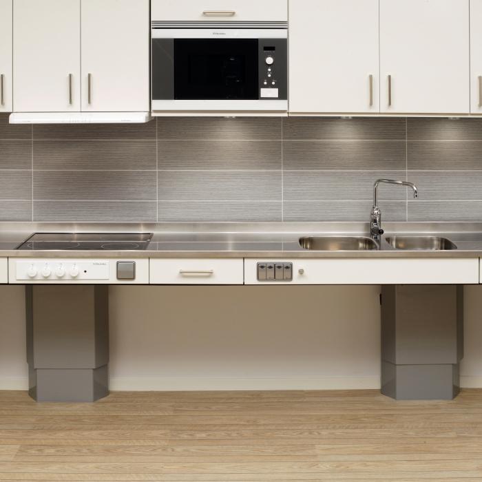 Smalt Avlastningsbord Kok : eluttag kok hojd  Som alternativ till tockskivor finns kopor som
