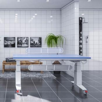 Height adjustable nursing tables