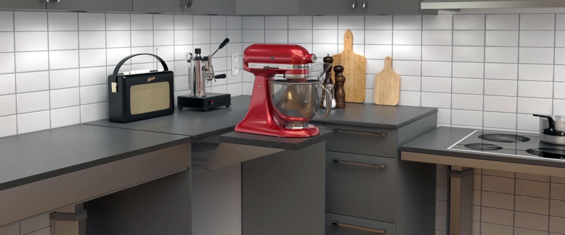 Lyftsystem till köksmaskiner