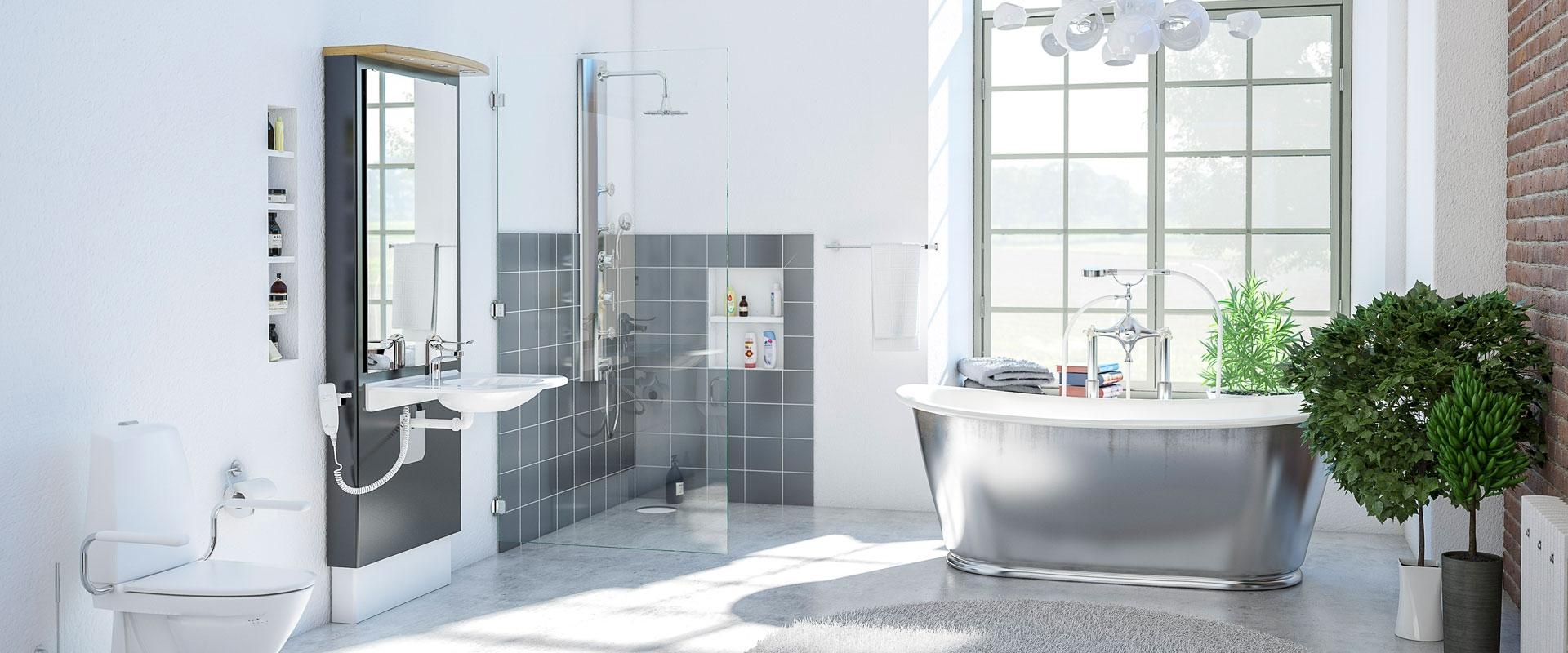 Elektriskt höj- och sänkbara tvättställ