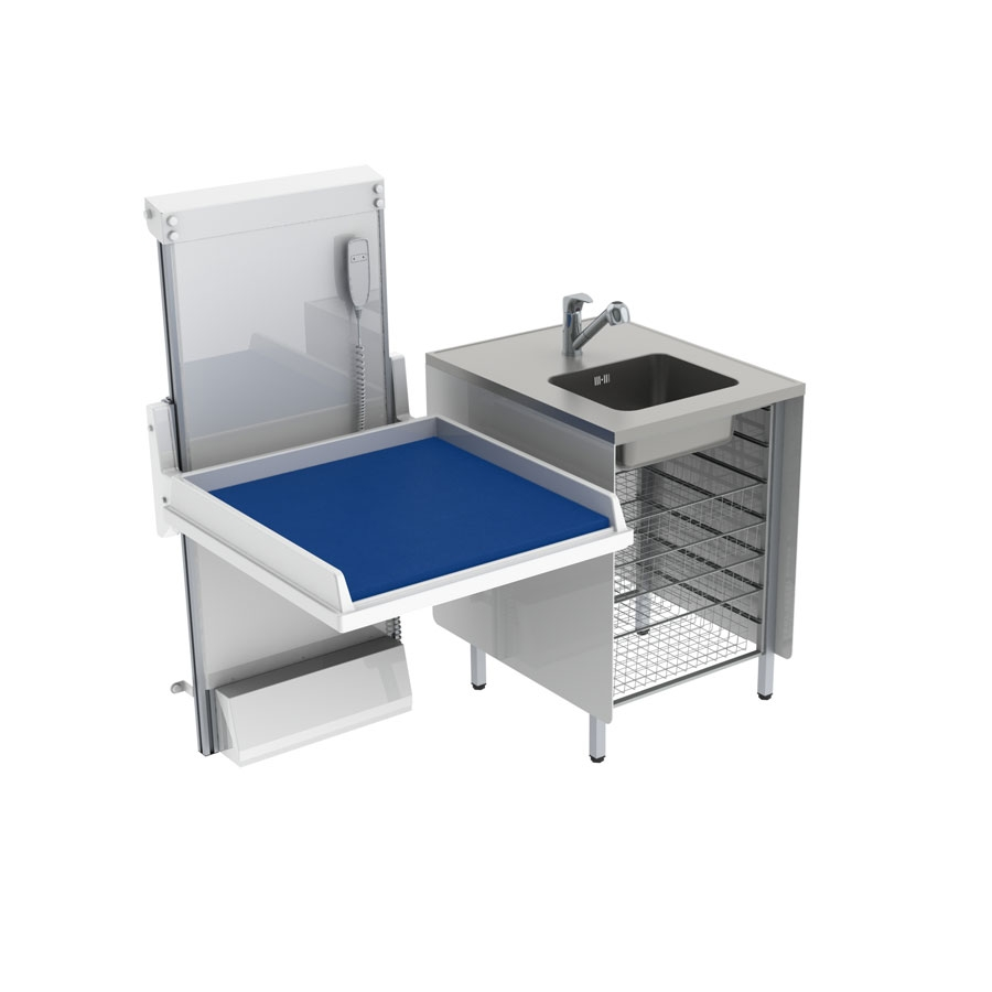 Changing table 334 - Combination 1, washing bench, 147x80 cm