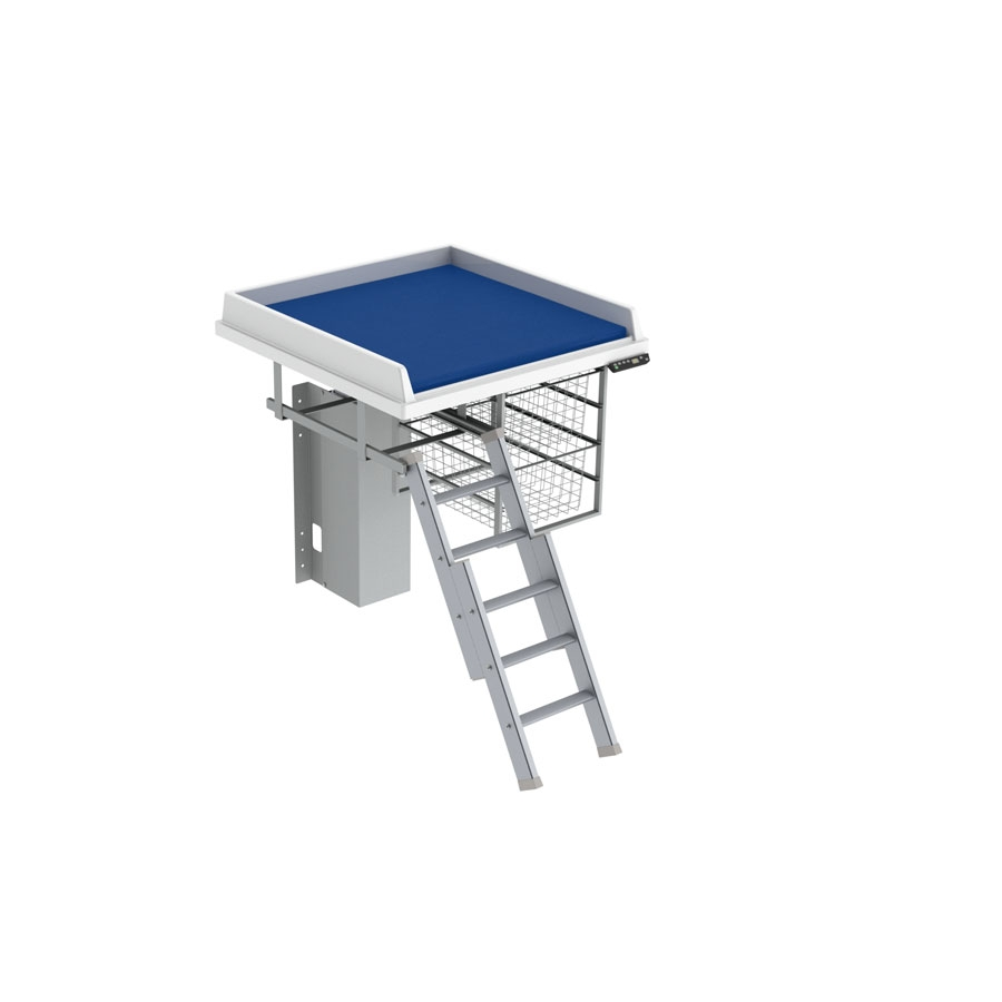 Changing table 335 - Ladder left, 80x80 cm