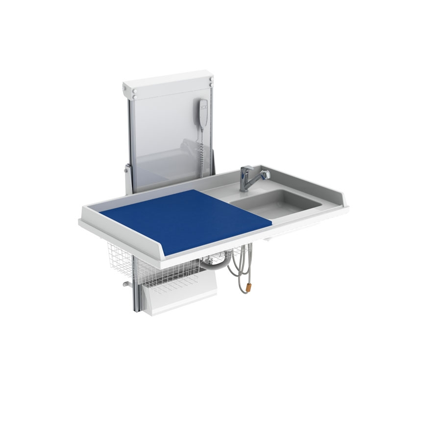 Baby changing table 334 - Border height 5.0 cm