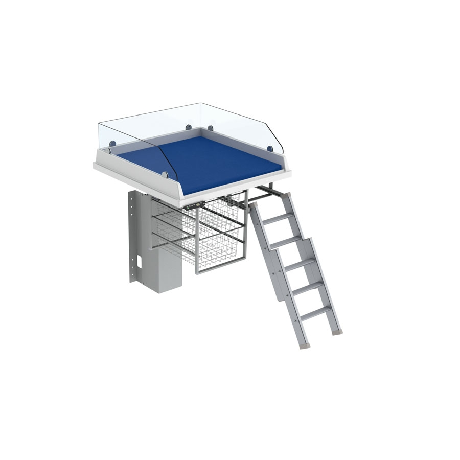 Changing table 335 - Ladder right, border height 20 cm, 80x80 cm