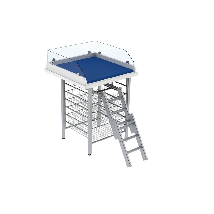 Changing table 327 - Ladder, border height 20 cm, 80x80 cm