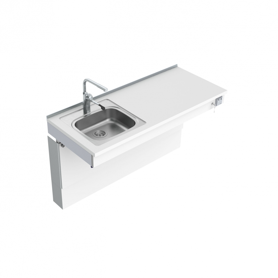 Wall Mounted Motorised Sink Module 6300-ES11
