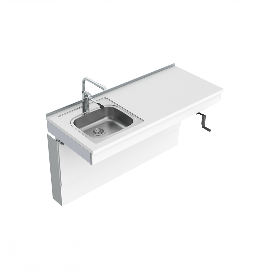 Wall Mounted Cranked Sink Module 6350-ES11