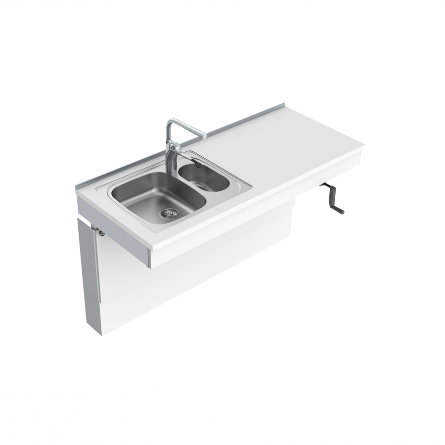 Wall Mounted Cranked Sink Module 6350-ES20