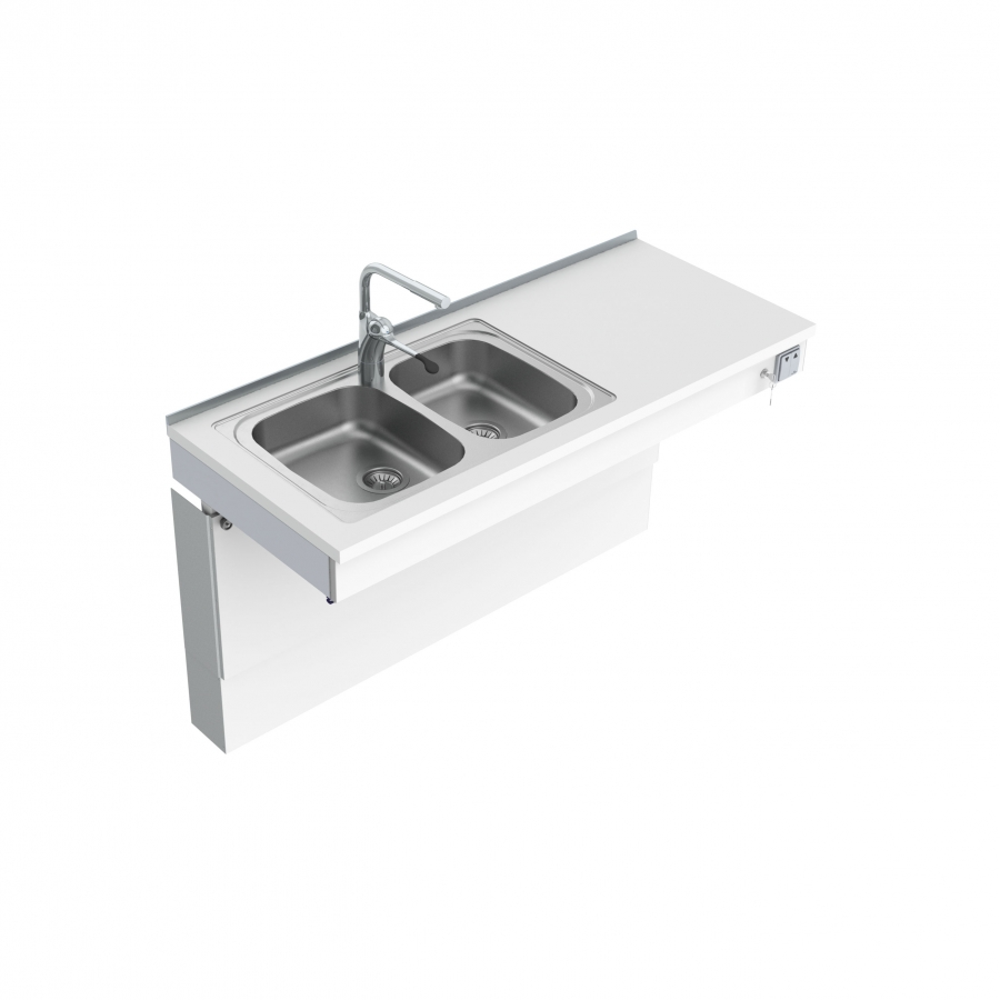 Wall Mounted Motorised Sink Module 6300-ES30
