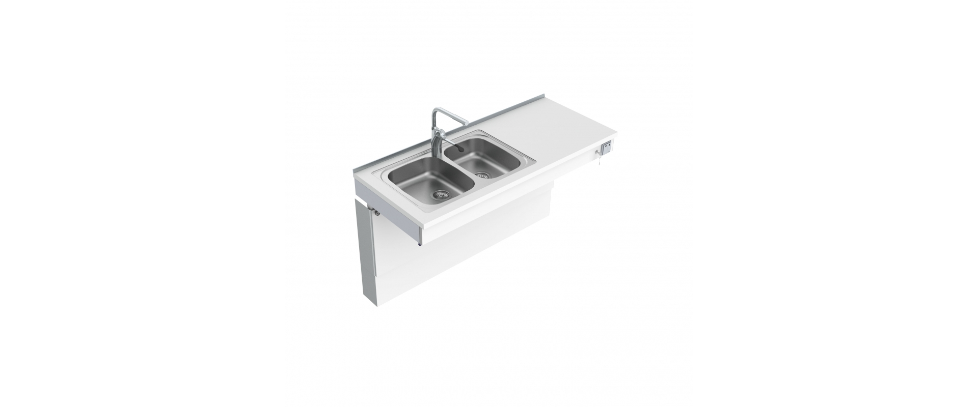 <b>Wall Mounted Motorised Sink Module 6300-ES30</b>