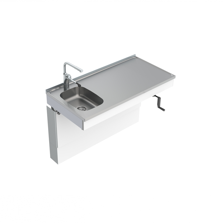 Wall Mounted Cranked Sink Module 6350-ESF