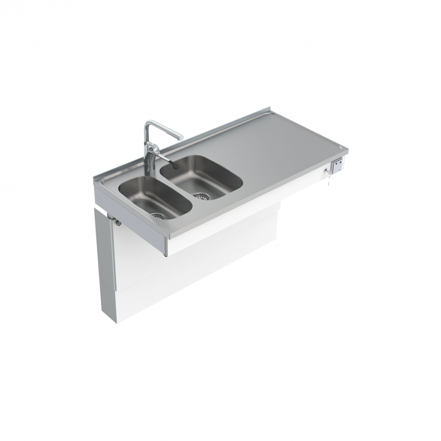 Wall Mounted Motorised Sink Module 6300-ESG