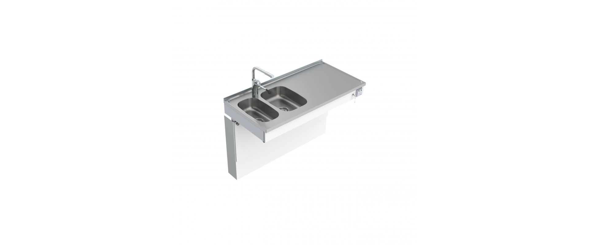 <b>Wall Mounted Motorised Sink Module 6300-ESG</b>