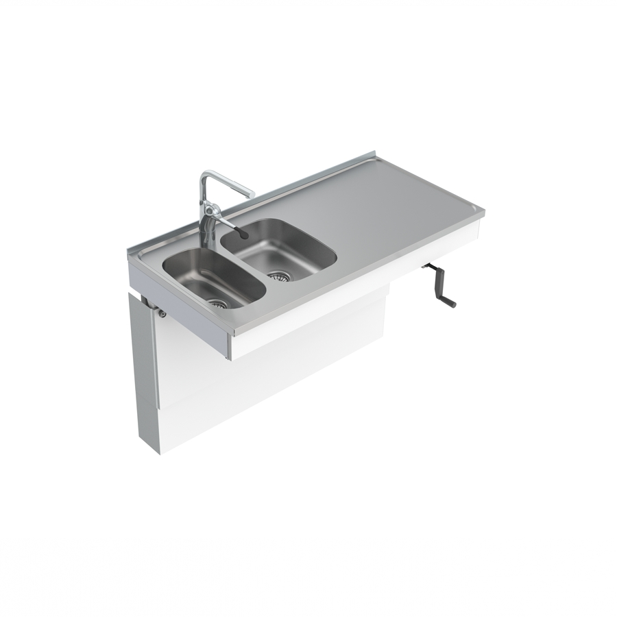 Wall Mounted Cranked Sink Module 6350-ESG