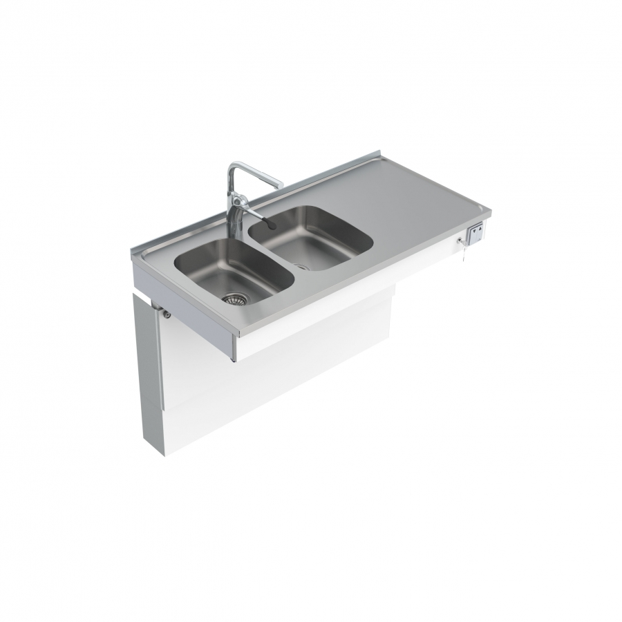 Wall Mounted Motorised Sink Module 6300-ESH