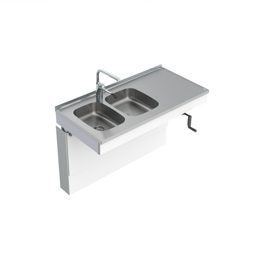 Wall Mounted Cranked Sink Module 6350-ESH