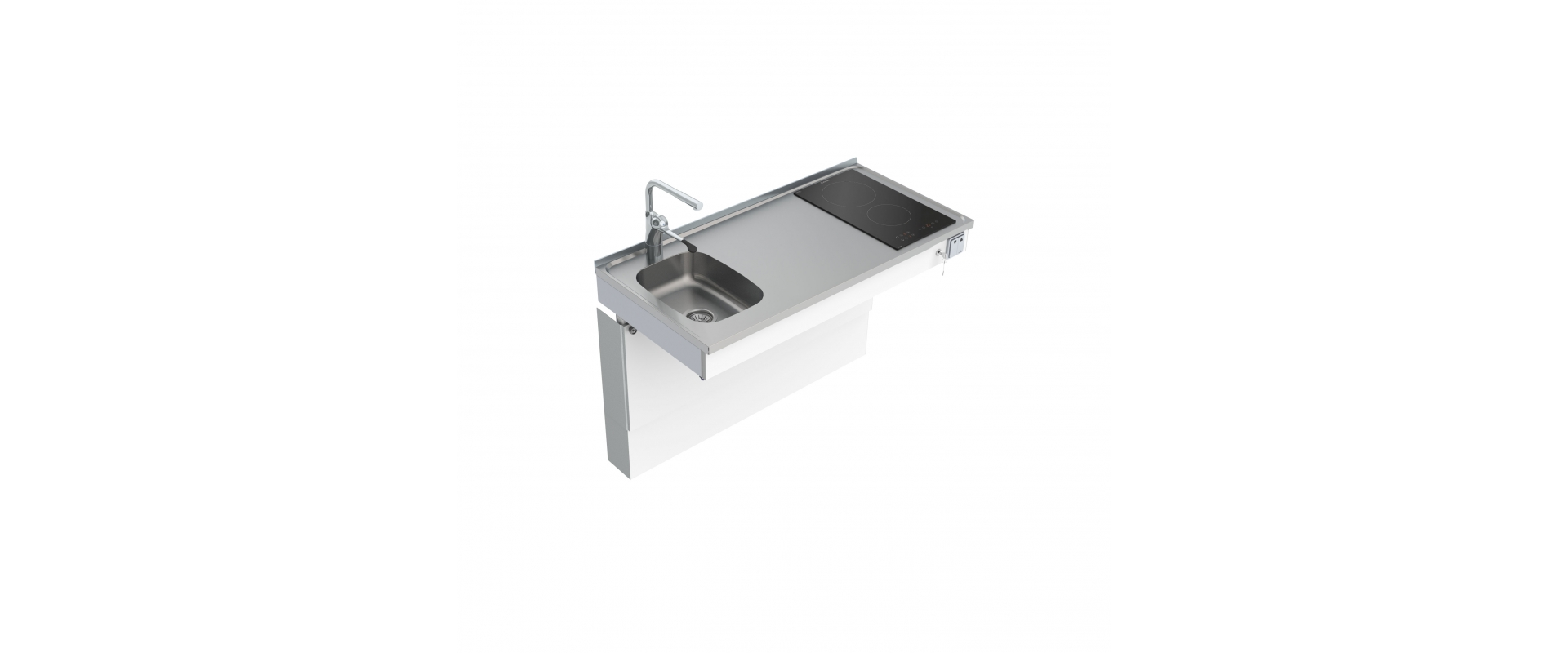 <b>Wall Mounted Motorised Mini kitchen module 6300-ESFS</b>