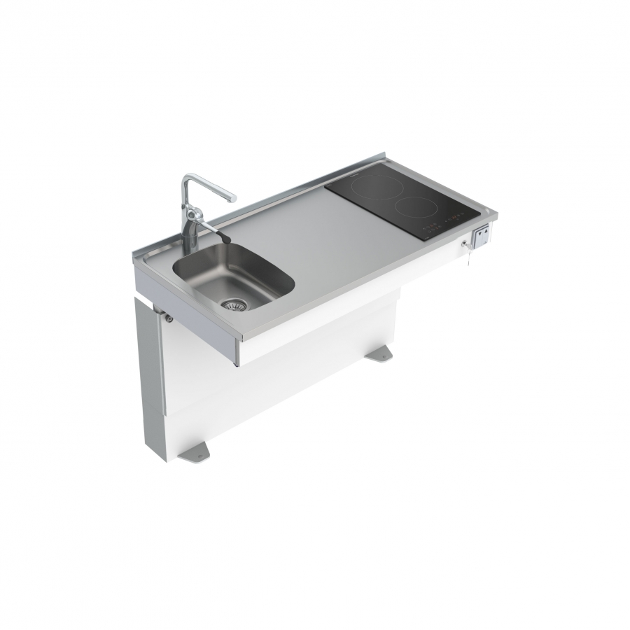 <b>Bodenstehend motorisch verstellbares Mini-Küchenmodul 6310-ESFS</b>