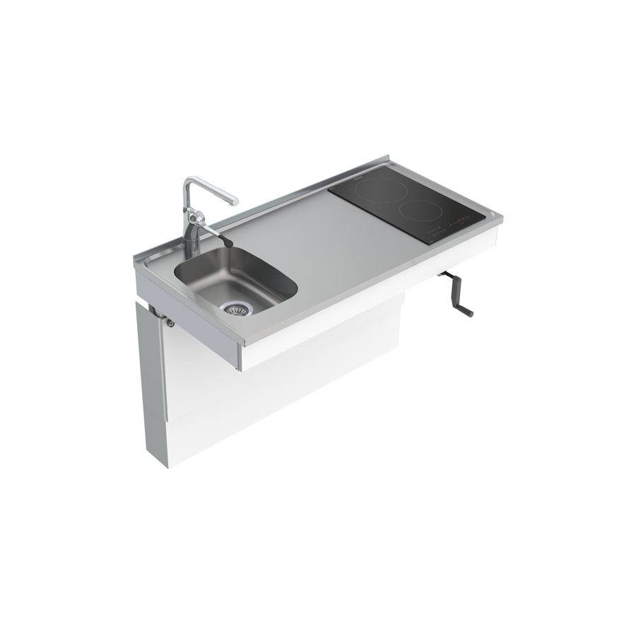 Wall Mounted Cranked Mini Kitchen Module 6350-ESFS