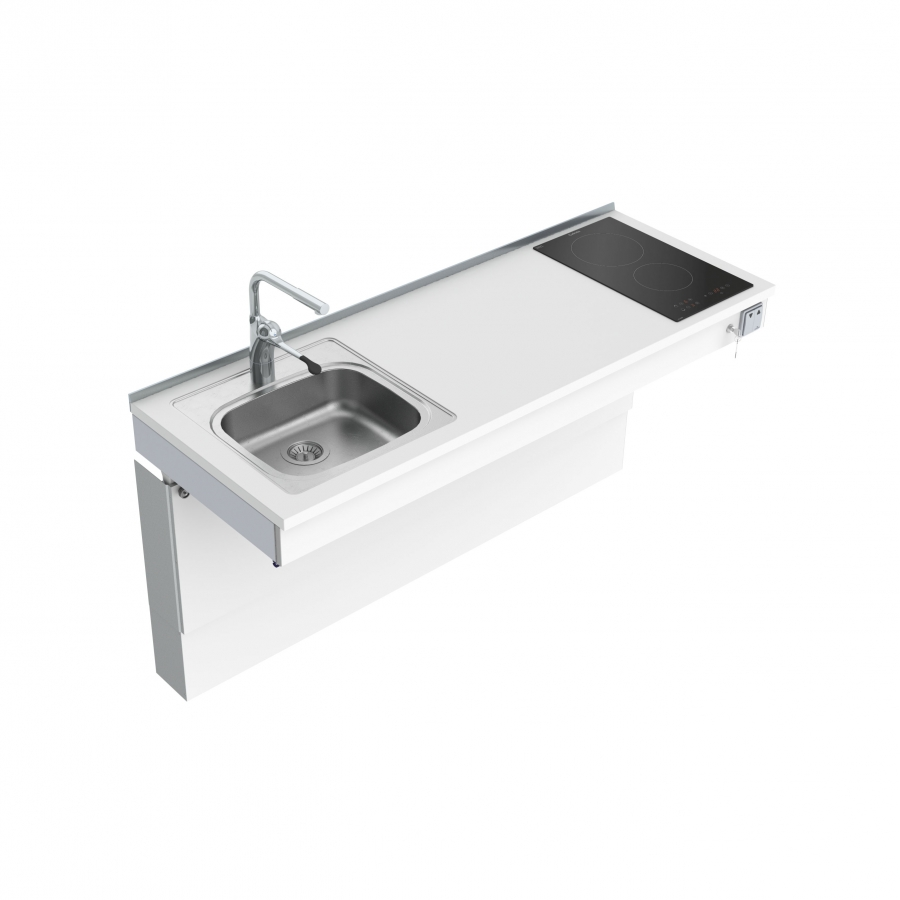 Wall Mounted Motorised Mini kitchen module 6300-ES11S2