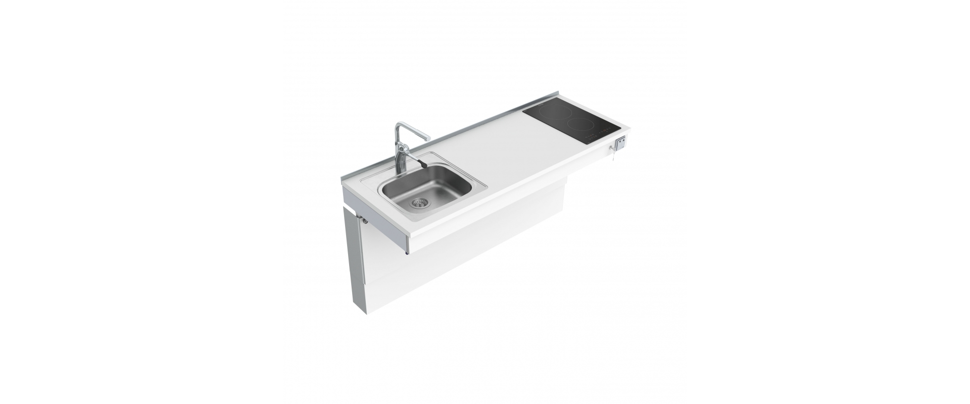 <b>Wall Mounted Motorised Mini kitchen module 6300-ES11S2</b>