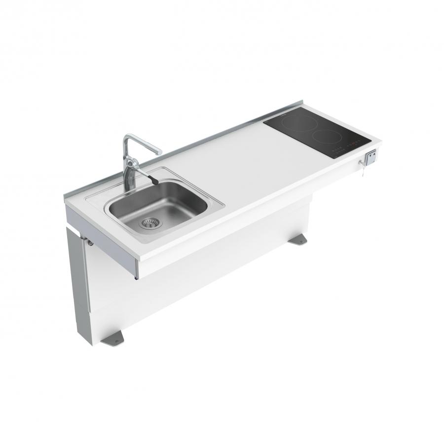<b>Bodenstehendes motorisch verstellbares Mini-Küchenmdul 6310-ES11S2</b>