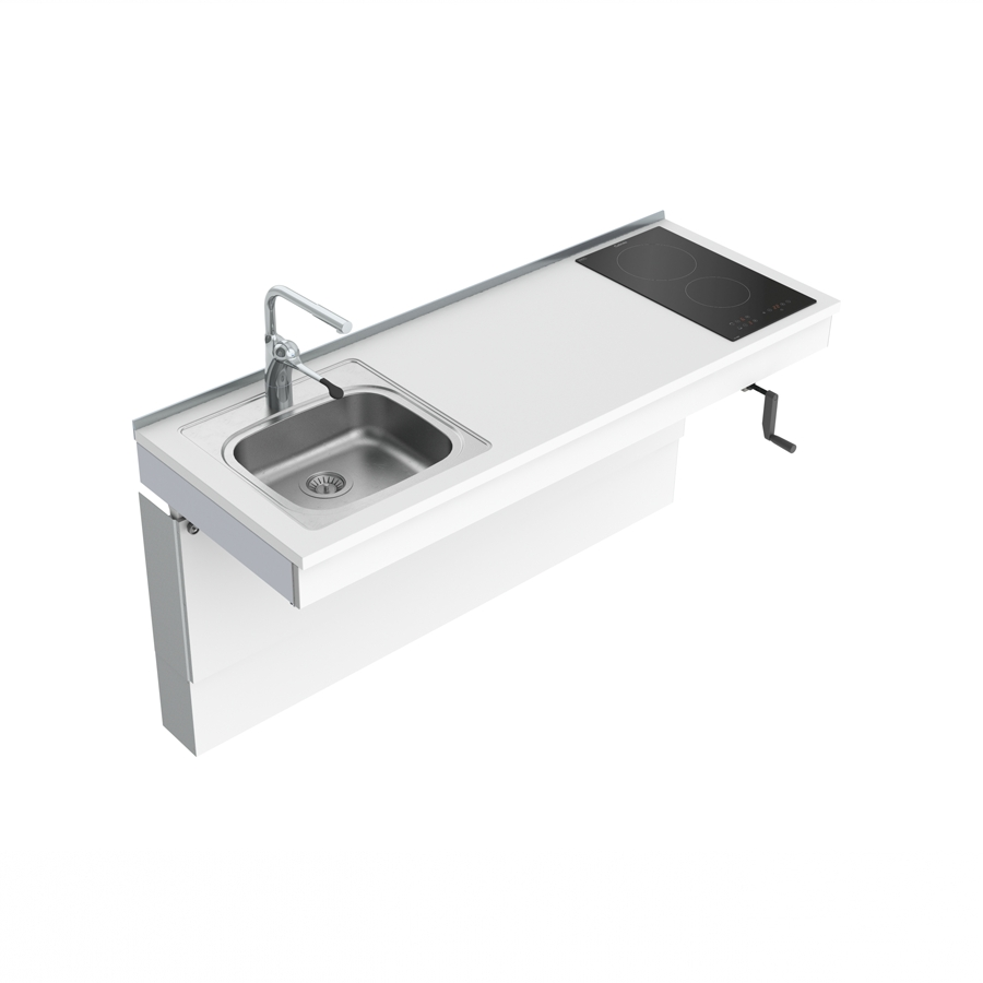 Wall Mounted Cranked Mini kitchen Module 6350-ES11S2