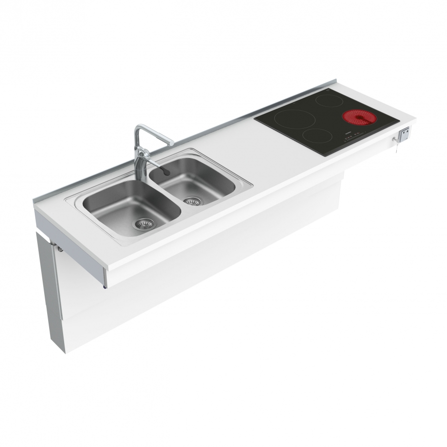 Wall Mounted Motorised Combi kitchen module 6300-ES30S4