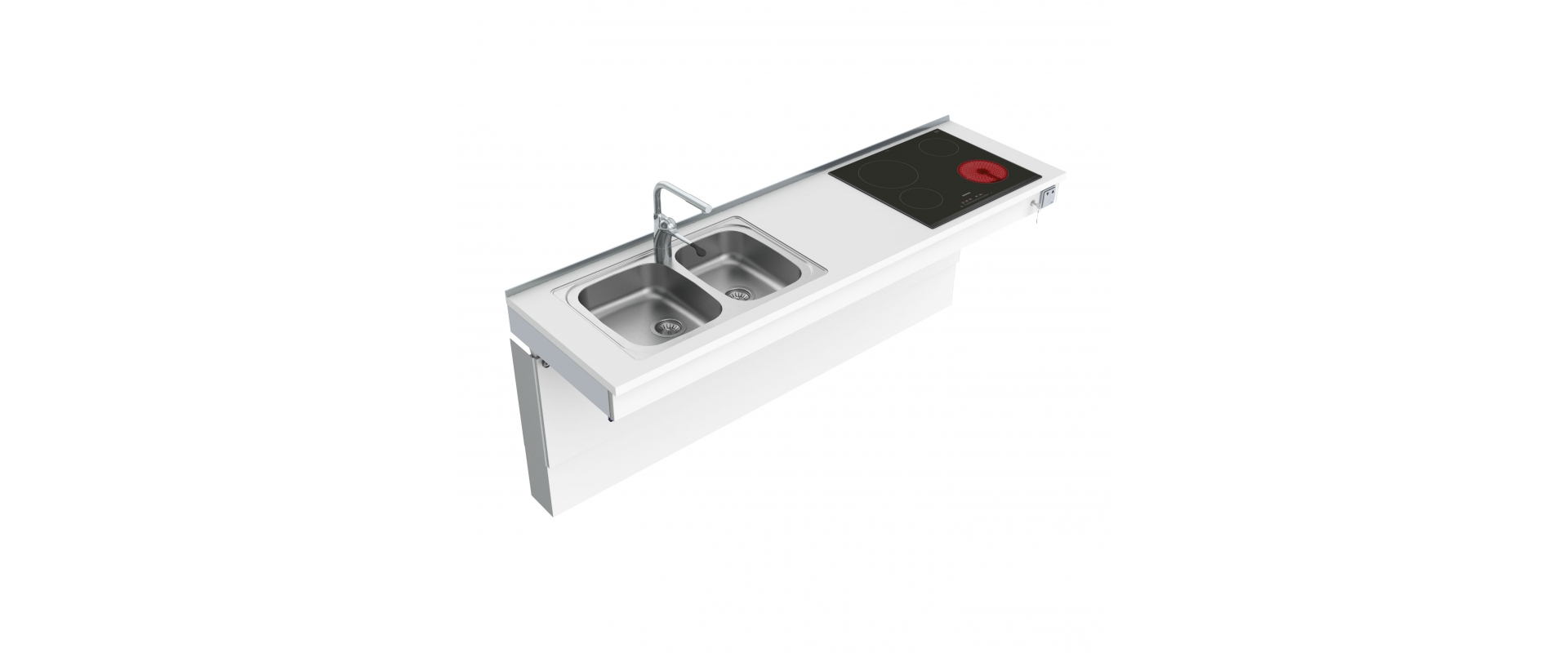 <b>Wall Mounted Motorised Combi kitchen module 6300-ES30S4</b>