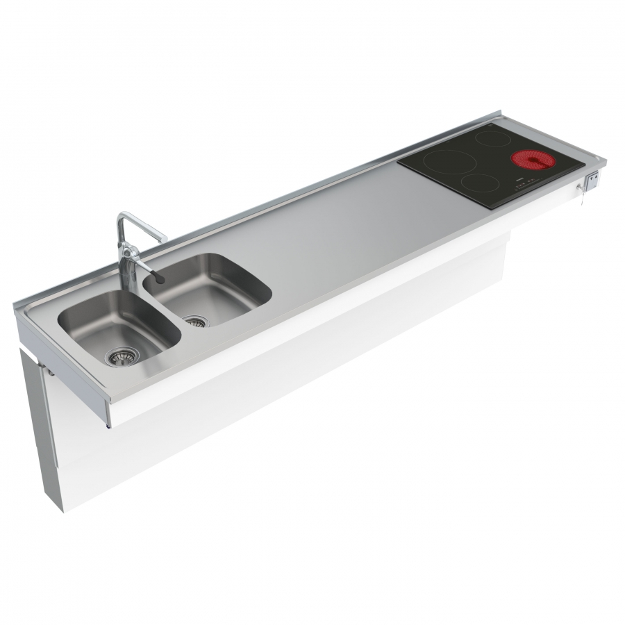 Wall Mounted Motorised Combi kitchen module 6300-ESHS4
