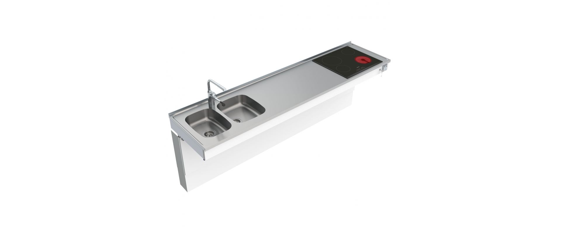 <b>Wall Mounted Motorised Combi kitchen module 6300-ESHS4</b>