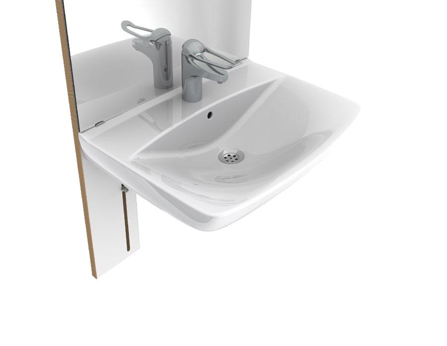 manuell h henverstellbares waschtisch basicline 401 manuell h henverstellbare waschtische. Black Bedroom Furniture Sets. Home Design Ideas