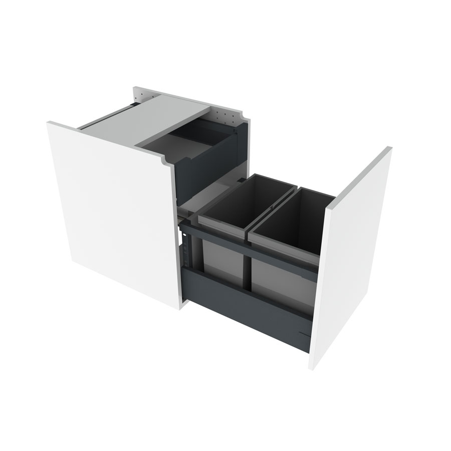 Hanging cabinet with waste  sorting bins, 40 cm