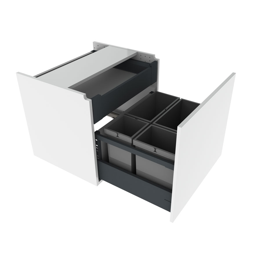 Hanging cabinet with waste  sorting bins, 60 cm