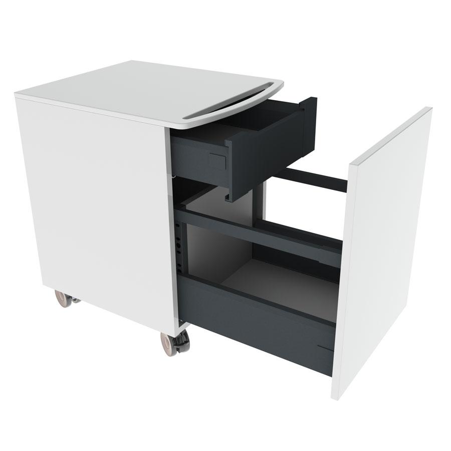 Mini cabinet on wheels