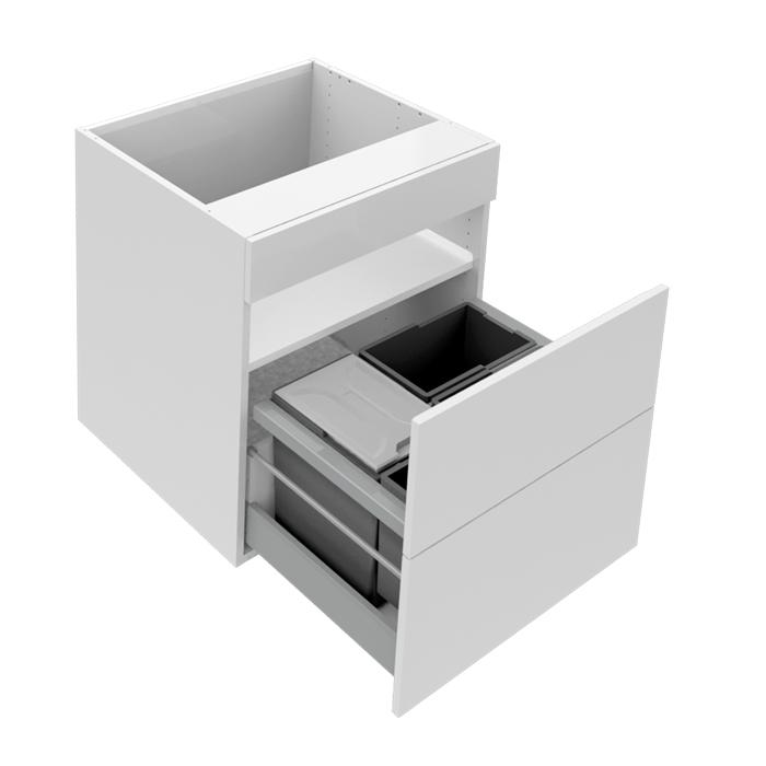 Diskbänkskåp med 1 låda och källsortering