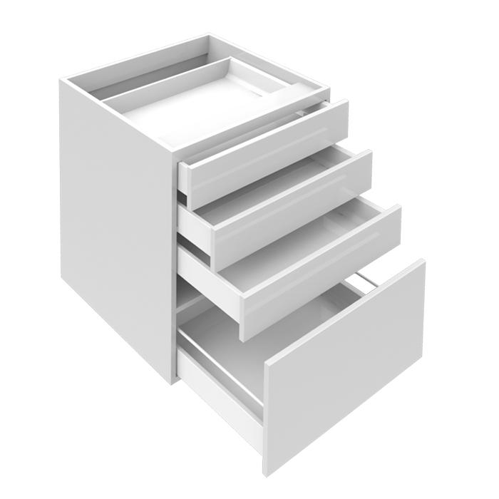 Lådfack med 4 lådor