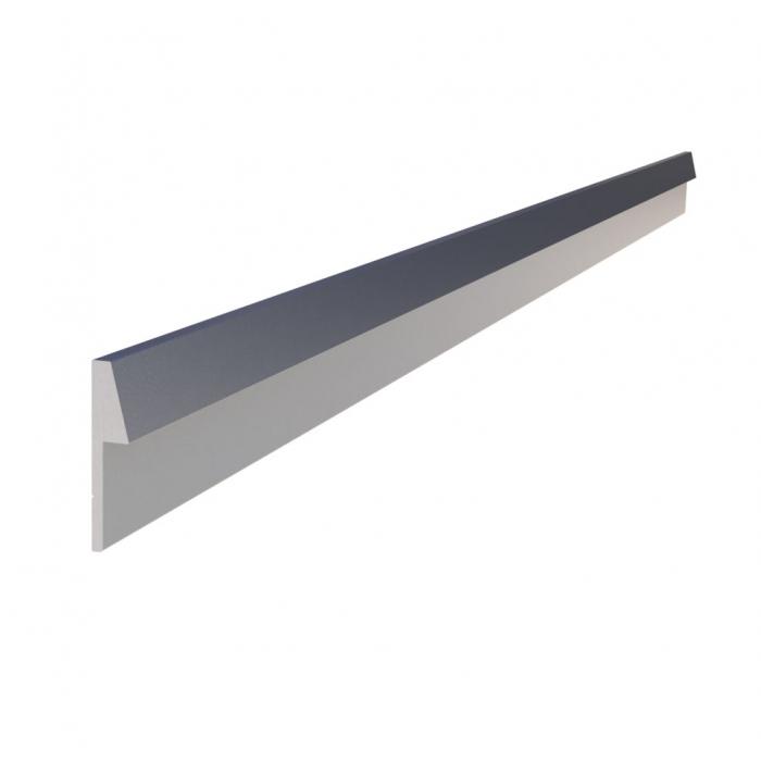 Bakkantslist till Bänkskiva - Borstad aluminium