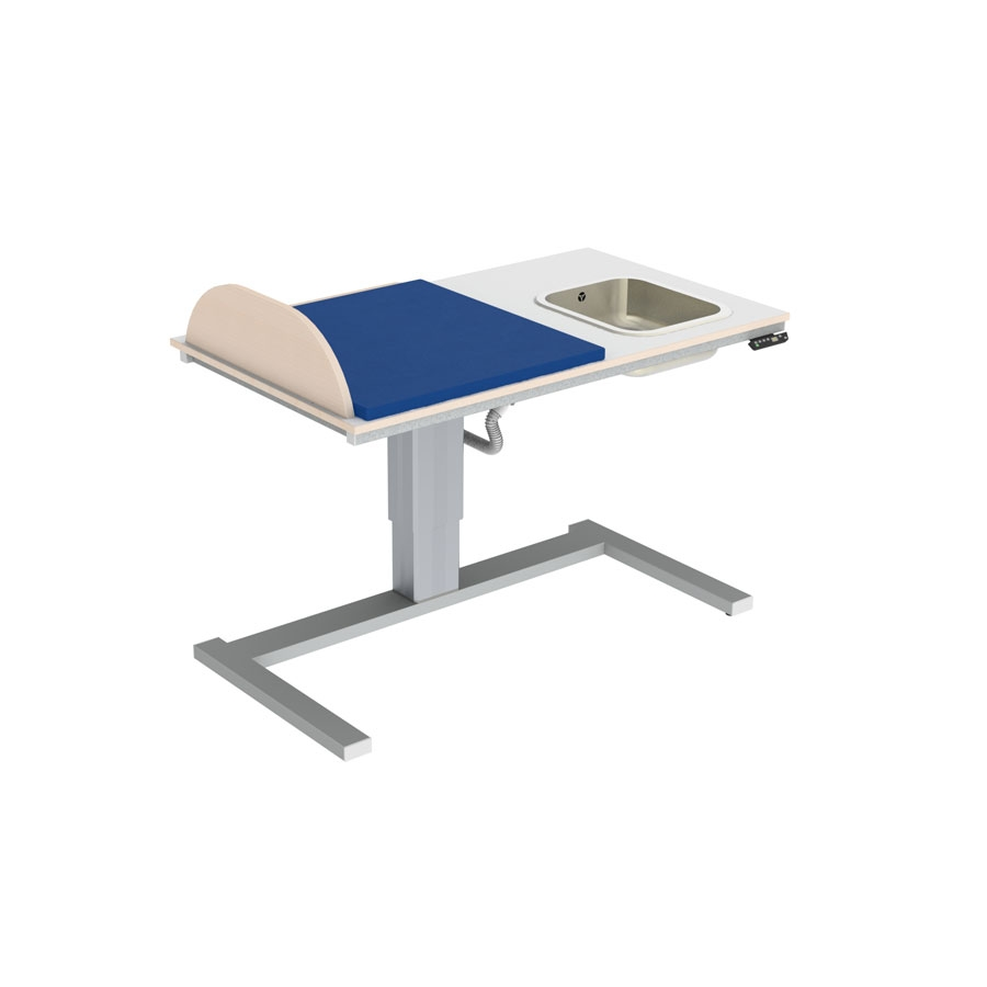 Changing table 332 laundry sink right - Build your own model, border height 20 cm, 140x80 cm