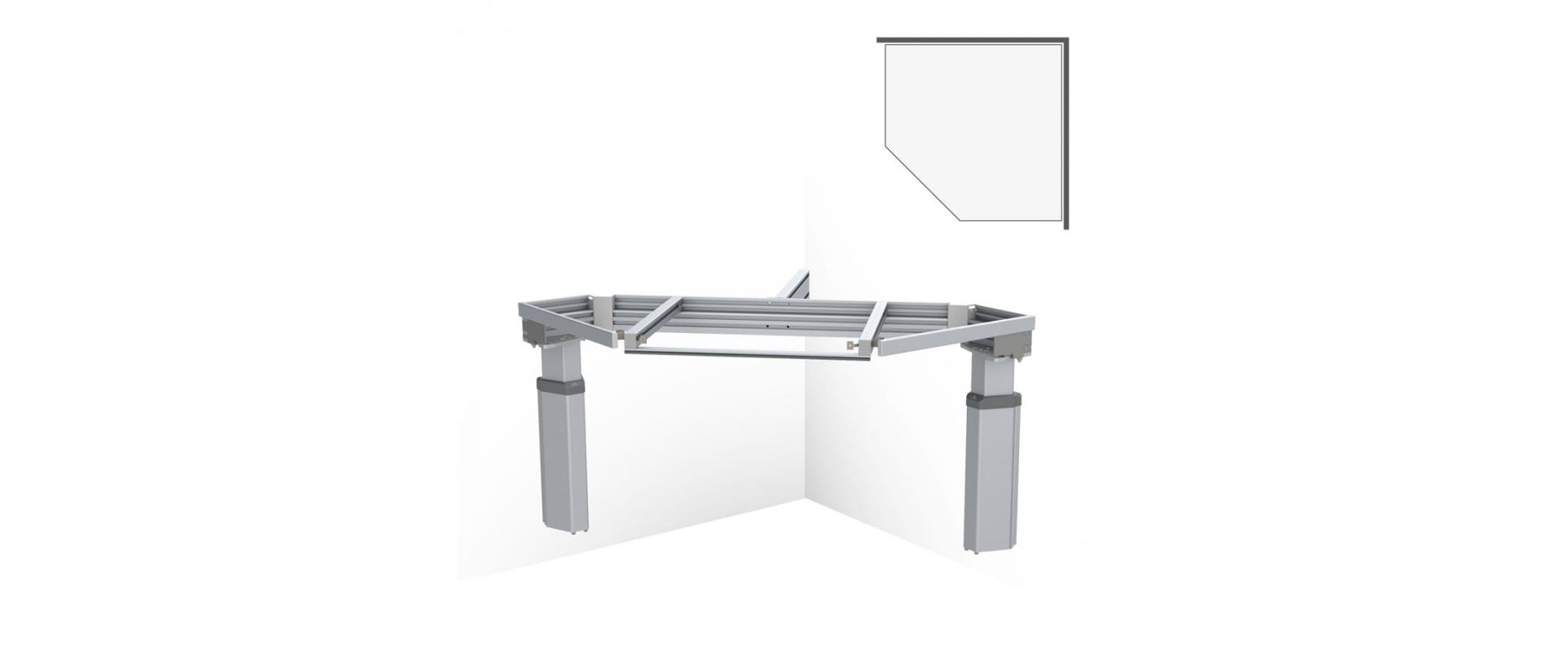 <b>BASELIFT CORNER 6301LA, 45°- 90°, wall-mounted</b>