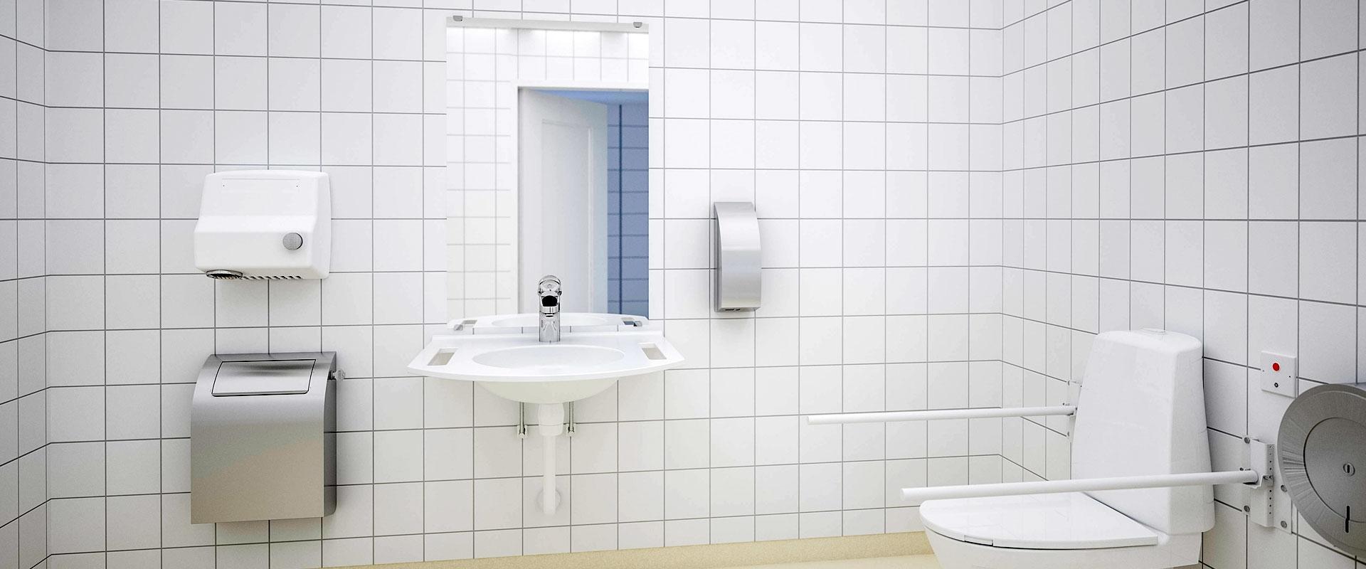 Tvättställ till offentlig miljö