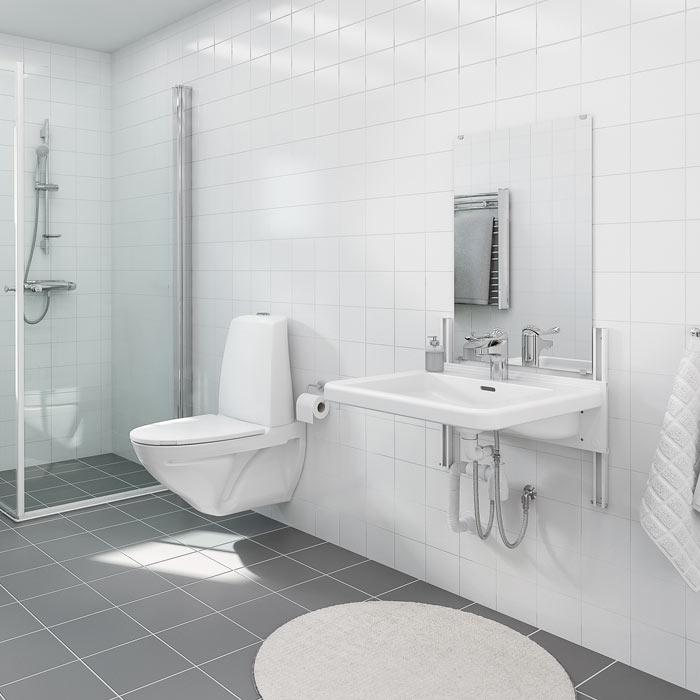 Manuellt höj- och sänkbara tvättställ - BASICLINE 403
