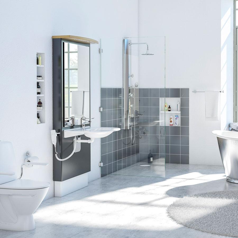Elektriskt höj- och sänkbara tvättställsmoduler - DESIGNLINE 417