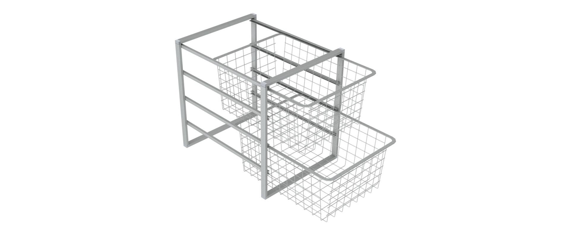 Accessoires tables langer hauteur variable for Panier de rangement table a langer