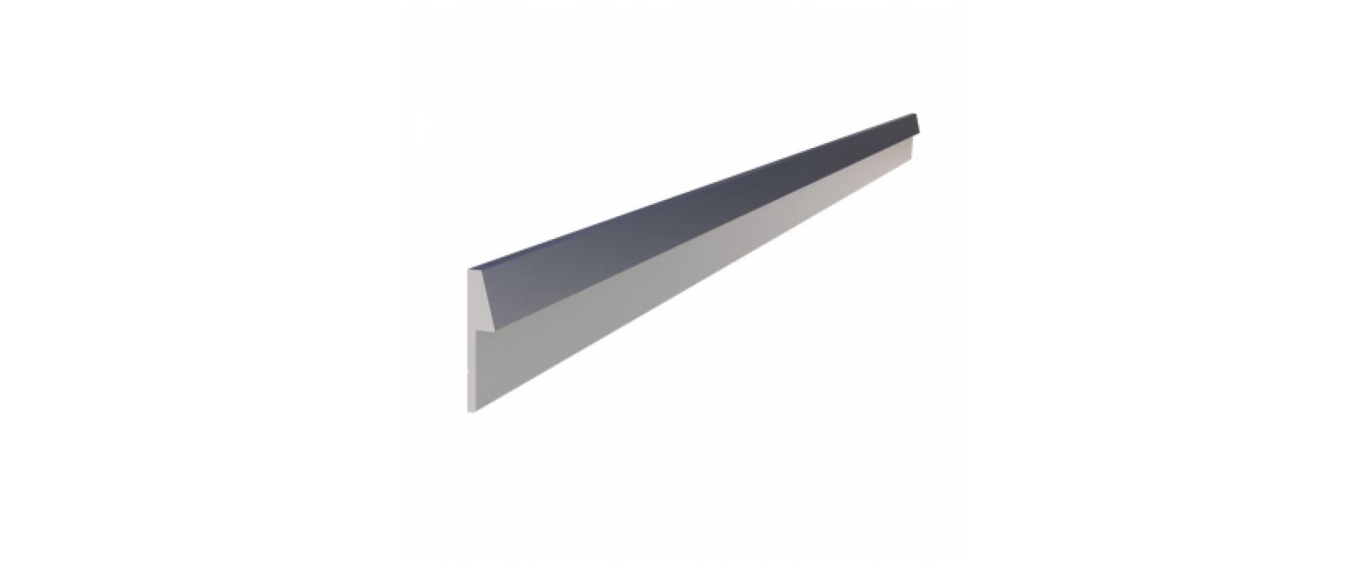 Profil arrière en aluminium pour le plan de travail