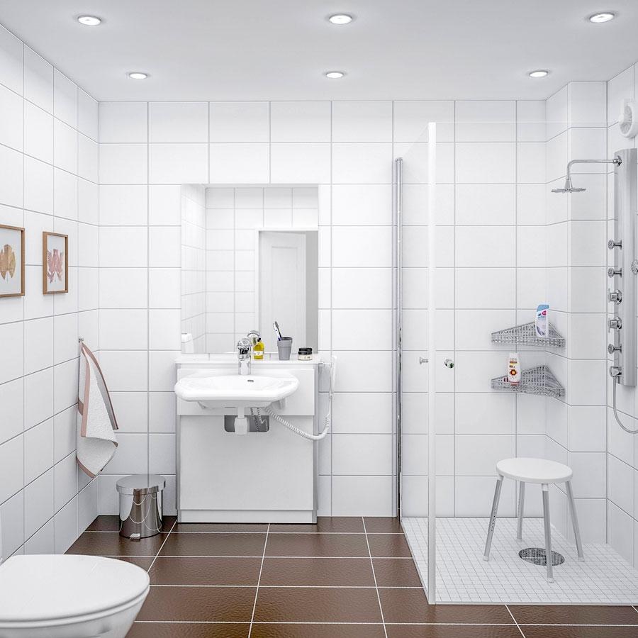 Elektriskt höj- och sänkbara tvättställ - BASICLINE 415