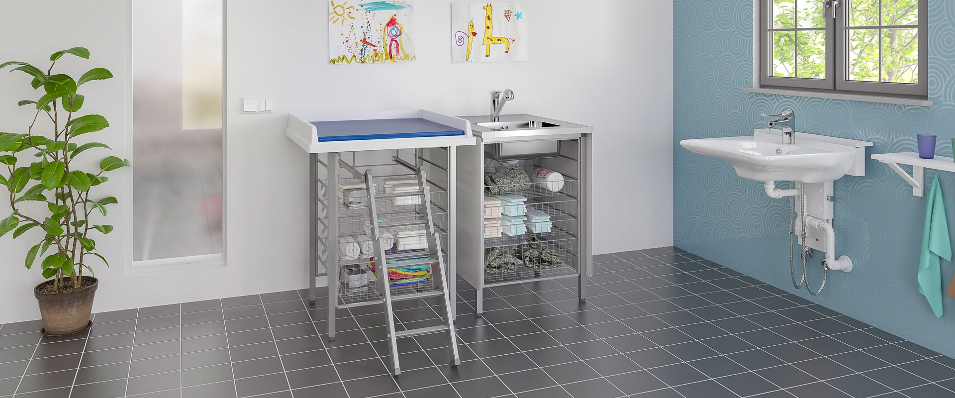Baby changing table 327-080