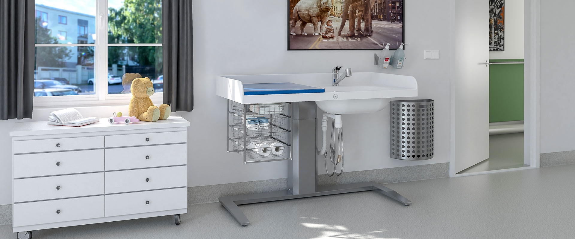 Height Adjustable Baby Changing Table 343