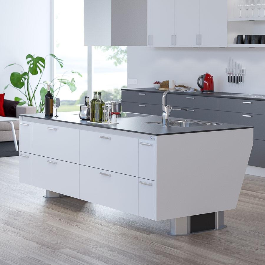 wohnen in der zukunft branchen info granberg deutschland gmbh barrierefreie k che. Black Bedroom Furniture Sets. Home Design Ideas