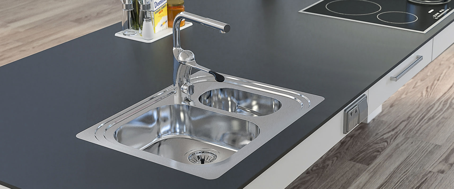 Inset Kitchen Sink ES20 - 61.6 cm